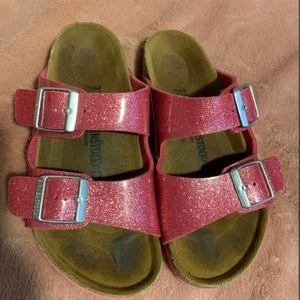 Birkenstock Girl's Pink Glitter Sandals